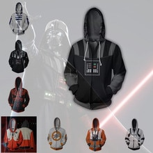 Film Star Wars dark vador hommes sweats à capuche Cosplay Costume vestes fermeture éclair Hoded