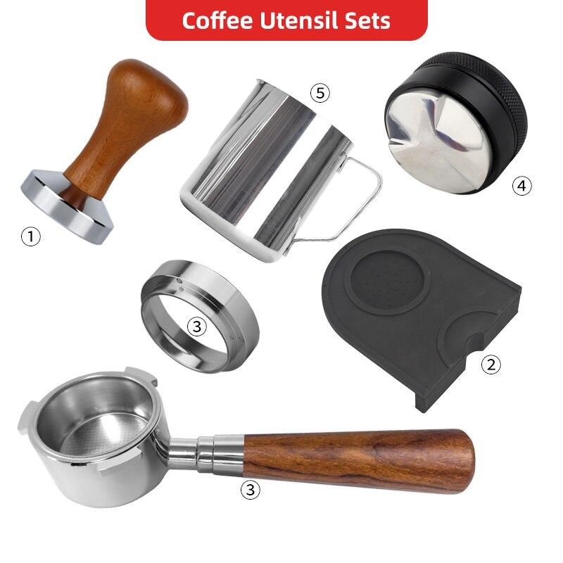 القهوة إناء مجموعات القهوة قعر Portafilter 51 مللي متر الفولاذ المقاوم للصدأ استبدال فلتر القهوة بودرة مطرقة صانع