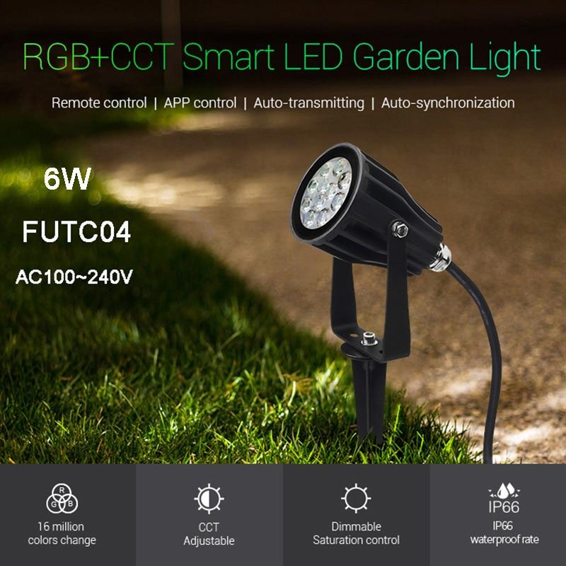 Miboxer-مصباح حديقة led مقاوم للماء ، إضاءة خارجية ، 6 واط ، RGB CCT ، AC100 ~ 240V 50/60Hz ، FUTC04 ، IP66