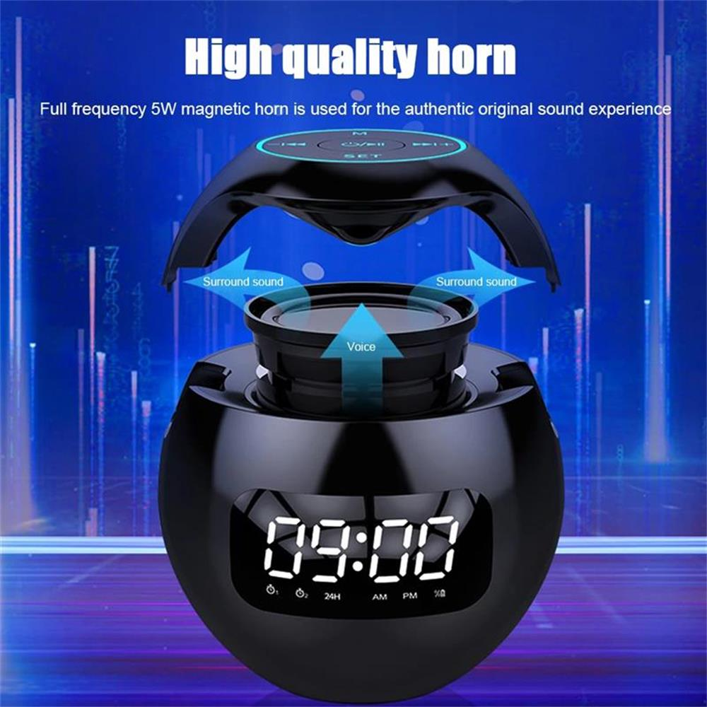 Wireless Bluetooth 5.0 Speaker Portable Outdoor Loudspeaker Sound Box With LED Display Alarm Clock Bluetooth TF Card Play enlarge