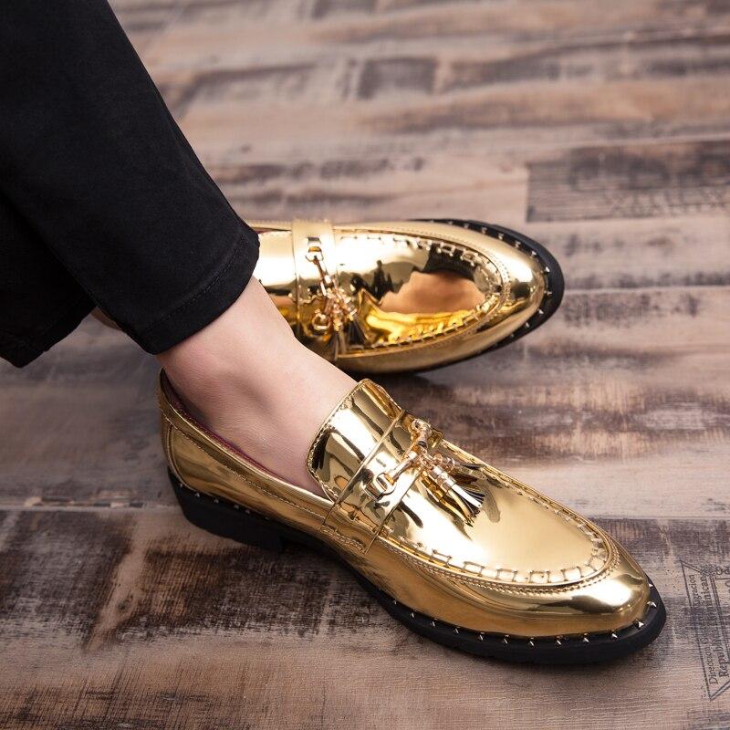 GUDERIAN-Zapatos formales De cuero para Hombre, mocasines con borlas, Zapatos De boda...