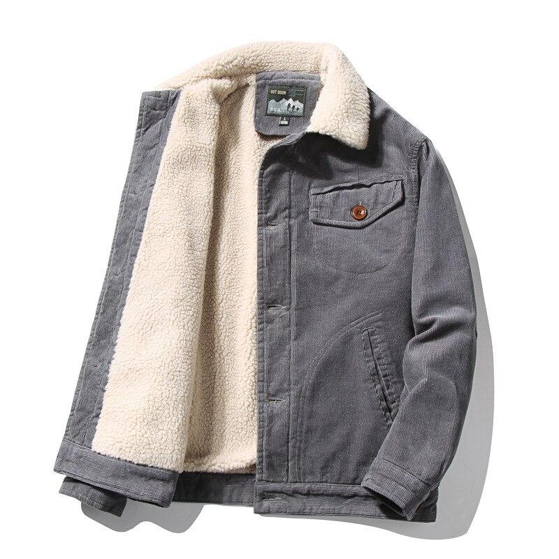 Новинка 2021, зимняя мужская куртка, пальто, бархатная Осенняя Толстая парка, Мужская Вельветовая верхняя одежда, Анорак, теплые куртки, ветро...