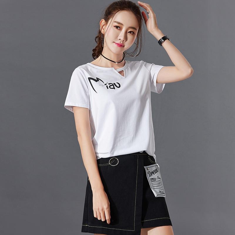 Black T Shirt Women Clothes 2019 Fashion Tee Top Fashion Cotton Ladies Tee Shirt