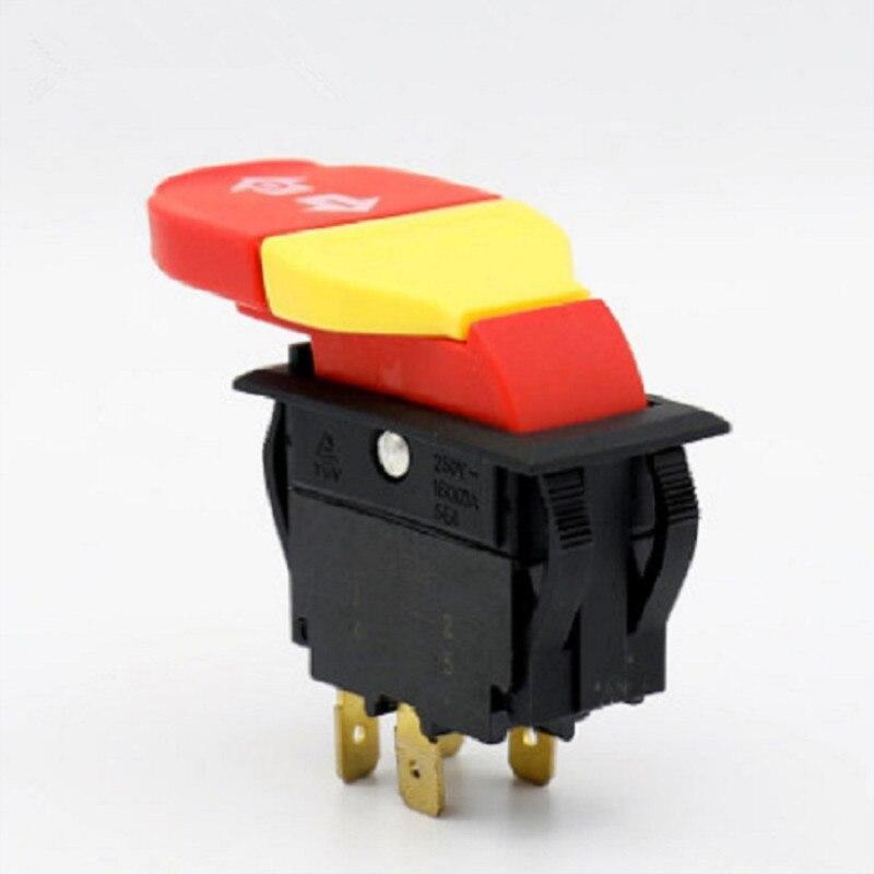 1 Uds. Pulsador electromagnético mecánico de madera 20/12A 125/250V 5E4 para herramientas eléctricas HY18
