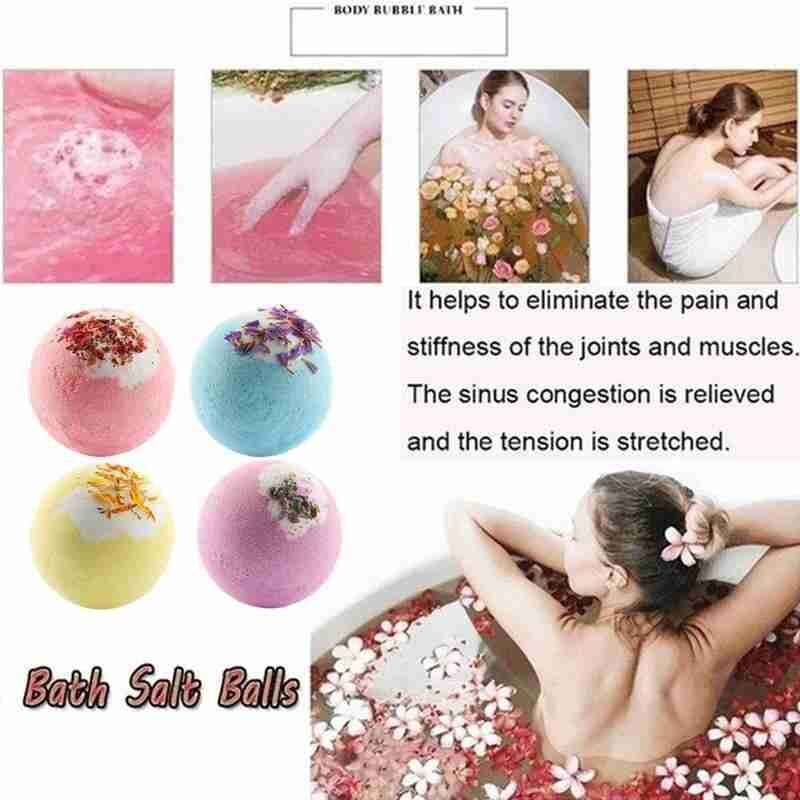 Handmade Essential Soap Moisturizing Oil Control Body Bombs Bubble Bath Ball Shower Salt Soap Cleaner V8R8