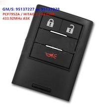 KEYECU 2 + 1B inteligente mando a distancia de coche 433MHz PCF7952A para Holden Chevrolet Captiva 2016-2018 GM/S 95137227 o 95137228