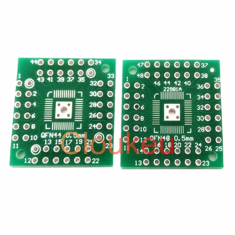 Placa adaptador de 10 piezas QFN48 QFN44 QFP48 PQFP LQFP QFN Placa de conversión DIP paso de 0,5mm