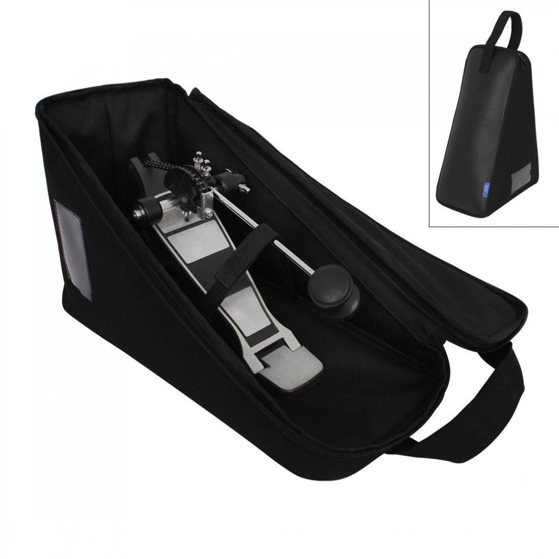 Baixo tambor pedal saco de couro do plutônio esponja portátil jazz tambor pedal armazenamento caso instrumentos percussão