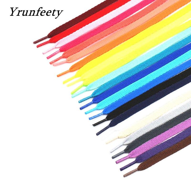 Cordones de zapatos con estampado de moda, cordones de zapatos planos de color negro, blanco, naranja, verde y morado, novedad de 2021