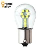 100pcs p21w 1156 ba15s led bulbs car lights 1157 bay15d turn signal reverse brake light r5w 3030 leds automobiles lamp drl