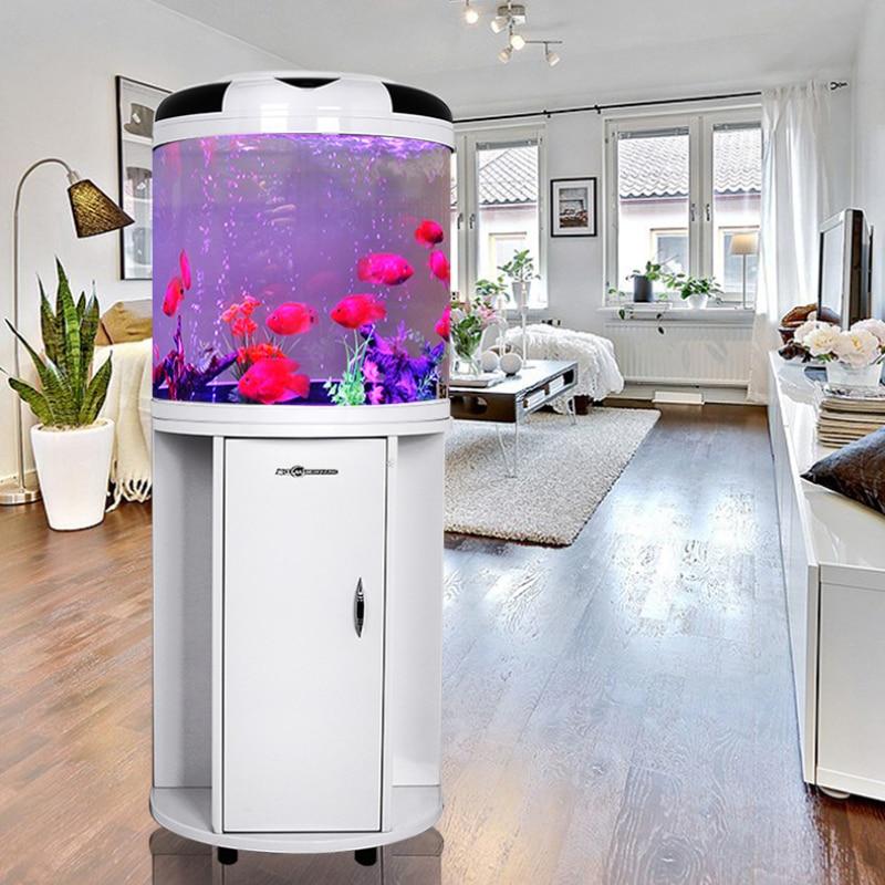 Minjiang عالية الجودة زجاج صغير نصف حوض السمك خزان الأسماك المصغرة بأسعار المصنع