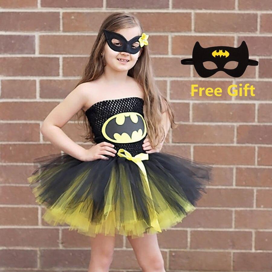 Disfraz de superhéroe Batman para niños y niñas, vestido de superhéroe para Halloween, navidad, cumpleaños, disfraz de Mujer Maravilla, vestido de Superman TS089