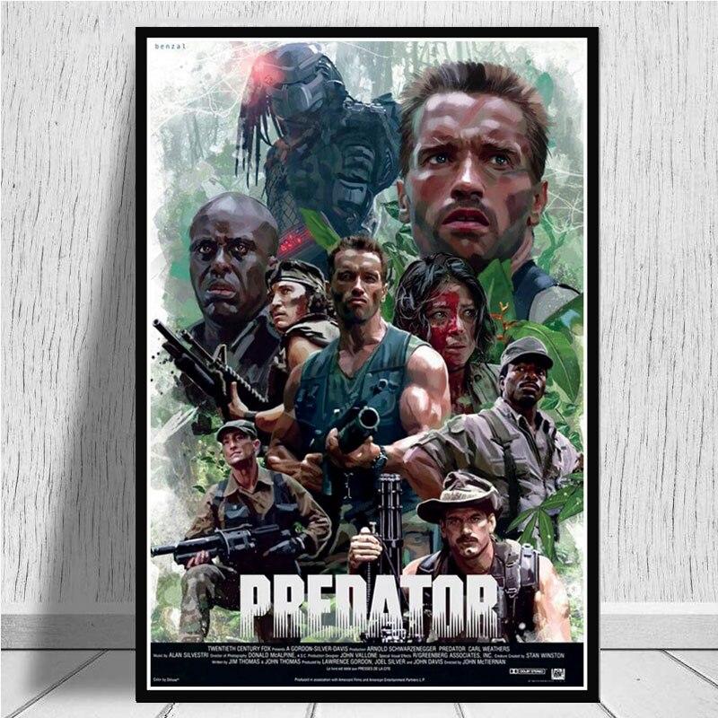NT053 depredador monstruo caliente Arnold Schwarzenegger, póster de película para pared arte pintura de aceite foto impresiones lona hogar Decoración de la habitación