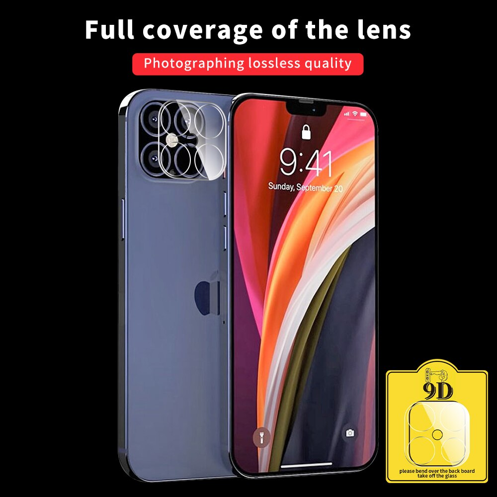 9D Camera Protection Glass For iPhone 12 Mini 12 Pro 12 Pro Max Full Cover Lens Tempered Glass For iPhone 11 11 Pro 11 Pro Max