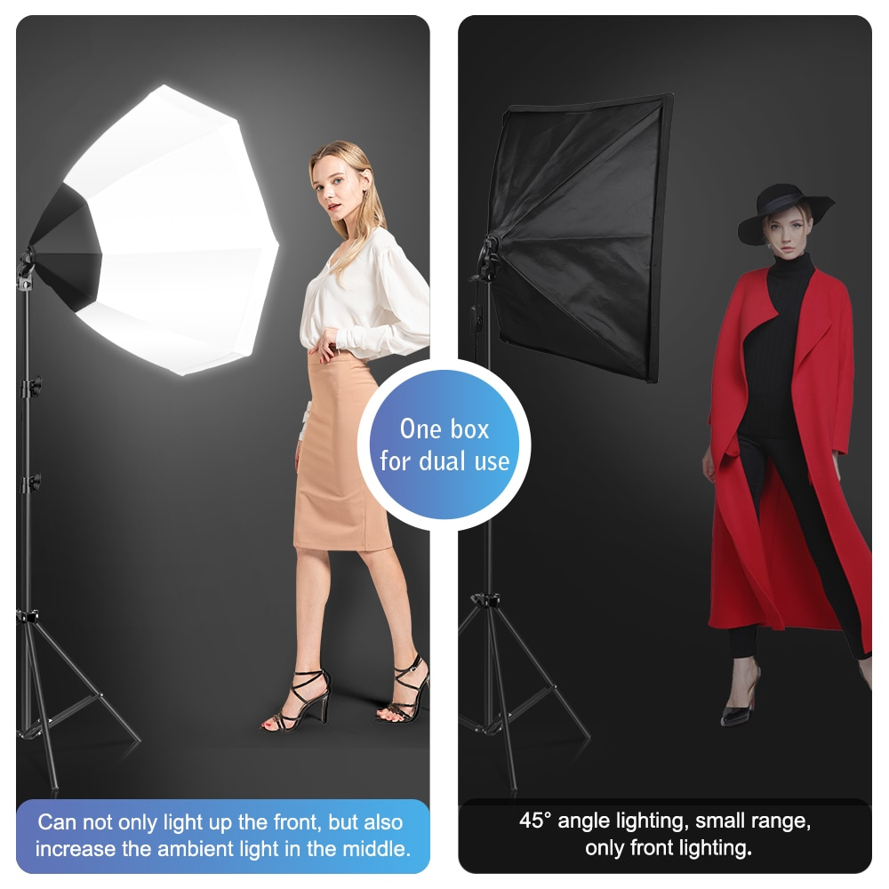 Photography Softbox Octagon Lighting Kits Soft box for Flash Continuous Light System For Photo Studio Light Equipmen Equipment enlarge