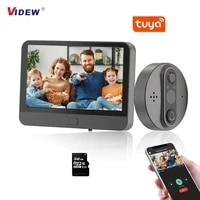 videw wifi video door peephole camera doorbell viewer with lcd monitor night vision tuya app control for apartment home security