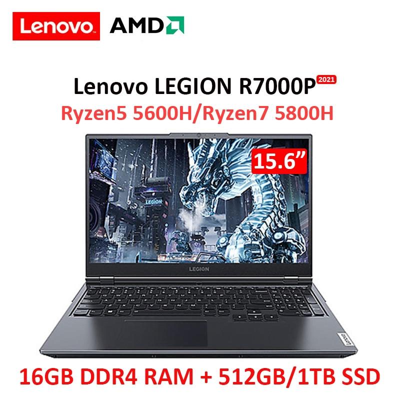 Review Lenovo Legion R7000P 2021 New AMD Ryzen7 5800H 16GB RAM 512G SSD 15.6inch IPS screen Gaming notebook computer Ultraslim laptop