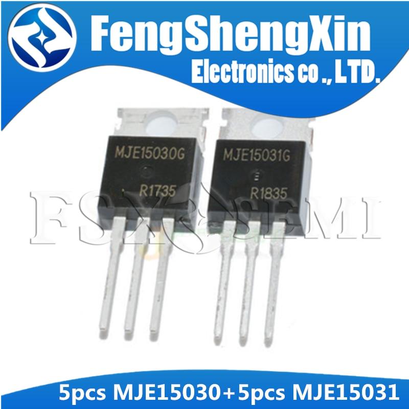 10PCS (5pcs MJE15030 + 5pcs MJE15031) TO-220 E13031 MJE15031G MJE15030G TO220 Transistor di Potenza