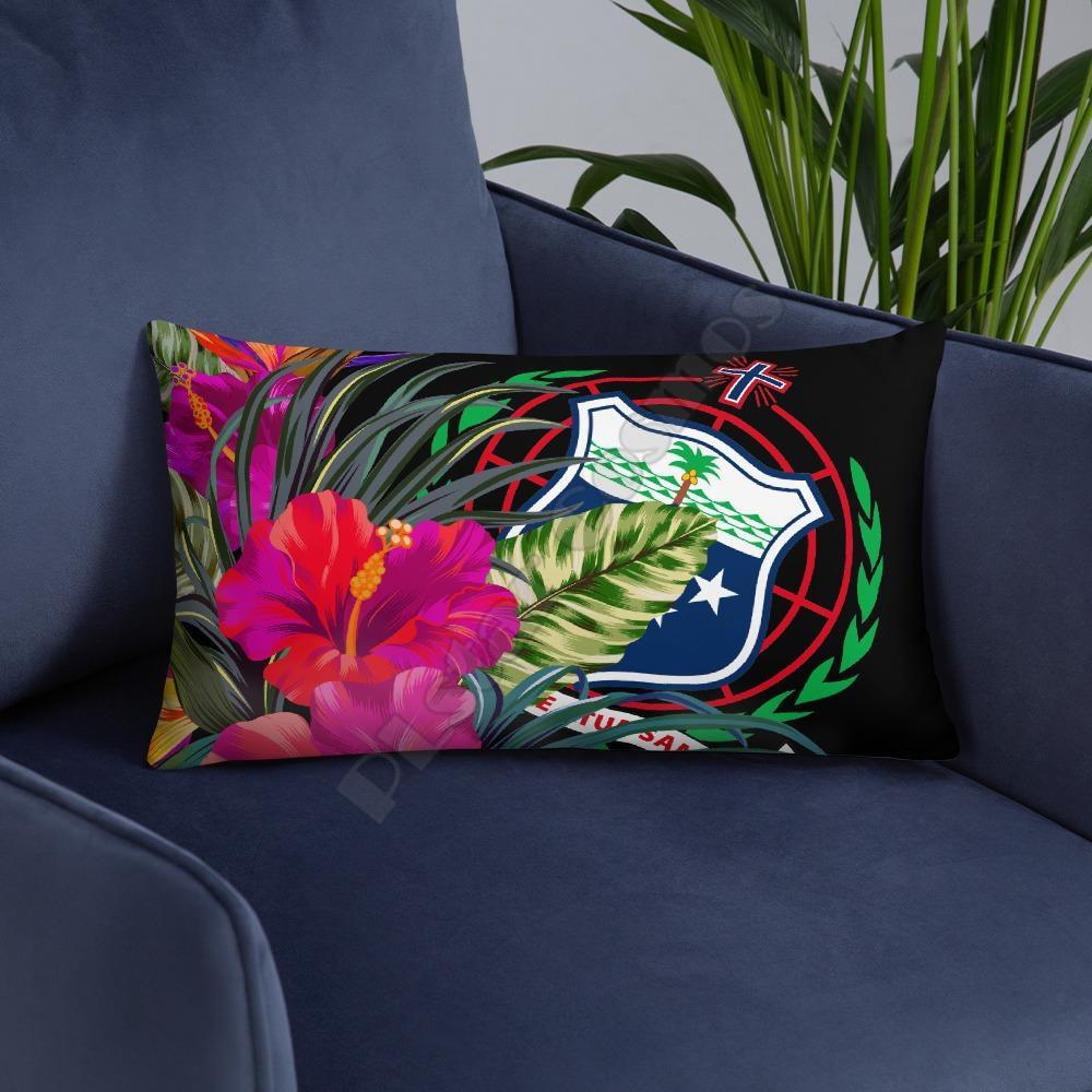 Polynesian Hawaii Pillow White Plumeria Pillowcases Throw Pillow Cover Home Decoration  - buy with discount