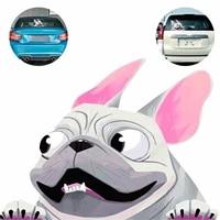 tioodre cartoon french bulldog sticker french bulldog pet dog vinyl decal cute car stickers for outdoor vehicle car window