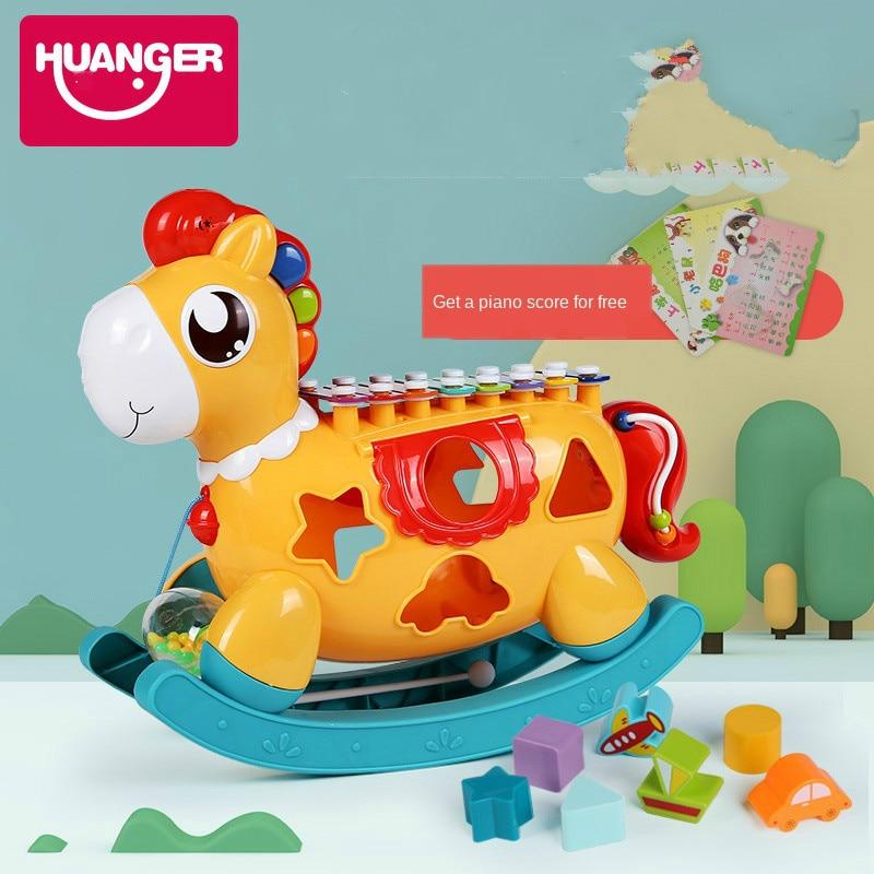 huanger instrumento de brinquedo para pedalar brinquedo educacional para bebes brinquedo