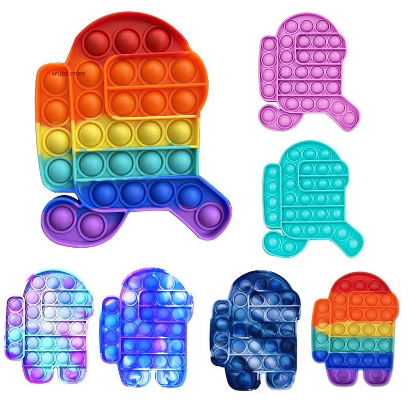 Pop It Hot Push Bubble Fidget Toys  Stress Relief Toy Antistress PopIt Soft Squishy Anti-Stress Gift Anti Stress Box Poppit