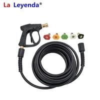 laleyenda 5m7m10m15m m22 male 14mm15mm diameter pressure hose 5pcs g14 quick release spray nozzles car washer pipe gun