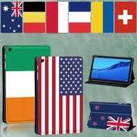 tablet stand cover for huawei mediapad m5 10 8 inchm5 lite 10 1 inch high quality national flag protective casestylus