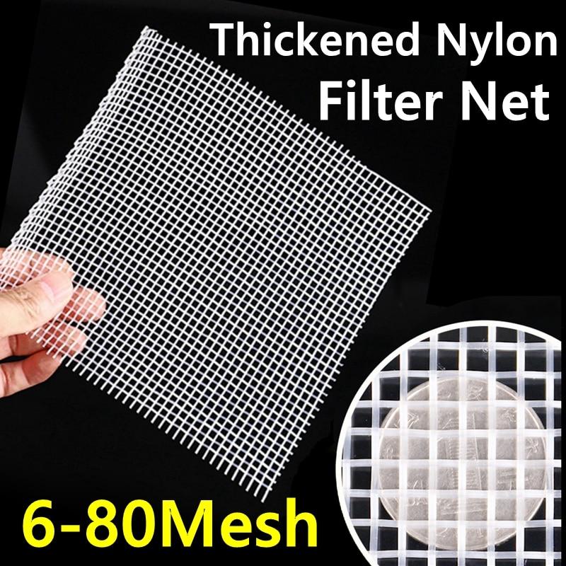 6-80 malla de grado alimenticio Filtro de Nylon espesado tela de red micrones hogar cocina aceite comida malla filtro de agua paño vino cerveza elaboración