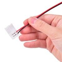 10 шт., 8/10 мм, кабель для печатной платы, 2-контактный разъем для светодиодной ленты, нейлон 3528/5050, одинарный фотоэлемент 16 см