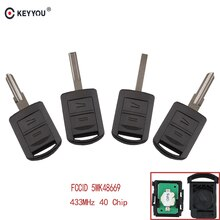 KEYYOU 2 кнопки Автомобильный Дистанционный ключ 5WK48669 для Opel AGILA Марка MERIVA ASTRA CORSA C COMBO VAN TIGRA VECTRA 433,9 MHz с чипом ID40