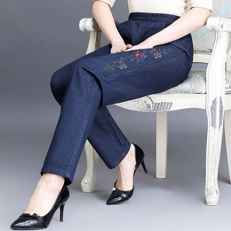Woman  5XL Straight Jeans Leg Mom  High Waisted Plus Size Big denim Jean Baggy Pants Cargo Women Vintage jeans  2020 wholesale