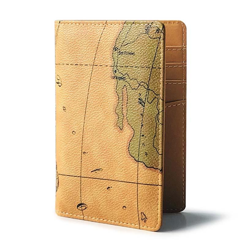 Funda para pasaporte de mujer de alta calidad con mapa del mundo de PU en 4 colores, funda para pasaporte de Rusia, funda para pasaporte para chicas