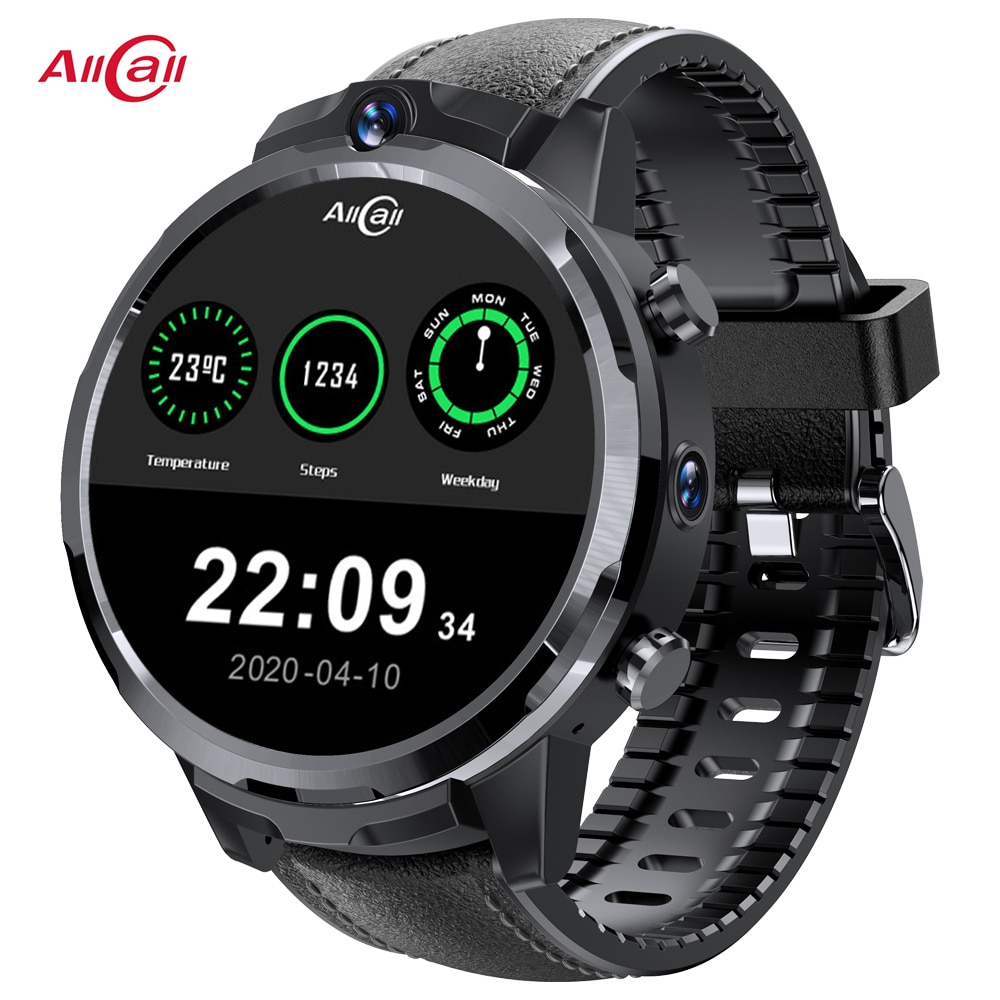 ALLCALL Awatch GT2 Smartwatch 4GB 32GB Face ID IP67 Waterproof GPS Heart Rate 5.0MP Dual Camera Bluetooth Smart Watch Men Women