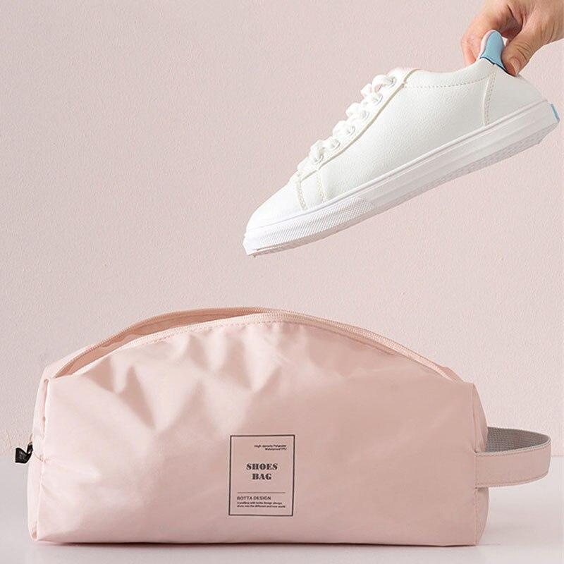 Travel Oxford Cloth Shoes Storage Bag Waterproof Boots High Heels Protective Case Dustproof Women Short Trip Organizer Accessory недорого