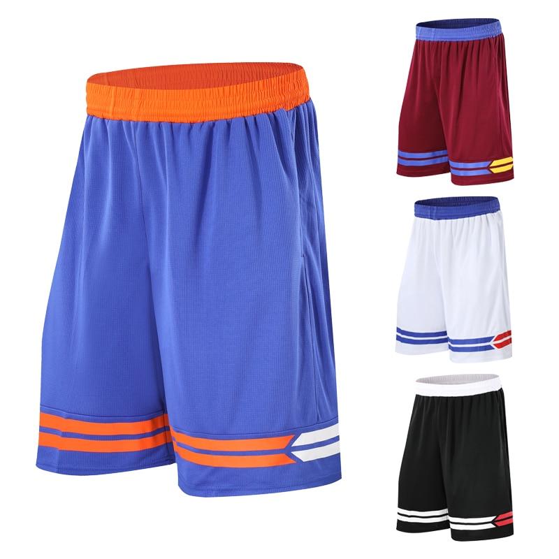 Men Basketball Shorts Sports Running Breathable Shorts With Pocket Summer blue black and gray Athletic Mens Shorts