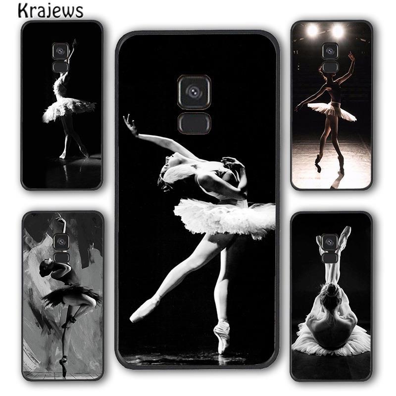 Krajews Ballet Dancer Phone Case Cover For Samsung Galaxy S5 S6 S7 edge S8 S9 S10 E lite S20 plus ul