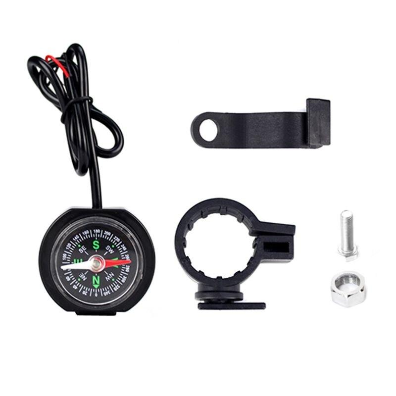Adaptador de corriente Universal para manillar de motocicleta, 12V 24V, Cargador USB resistente al agua con brújula para teléfonos móviles y GPS