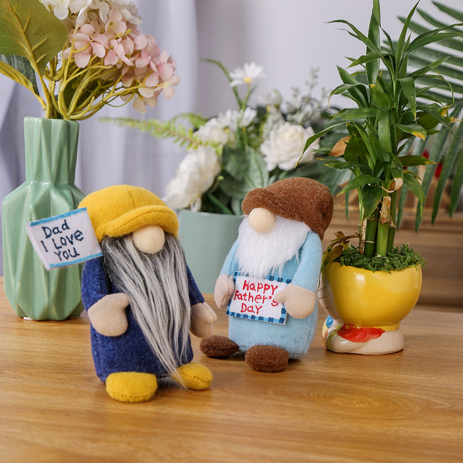 Father's Day Gnomes Cute Plush Faceless Doll Nordic Bumble Bee Ornament Home Decoration Room Decor omilut bumble bee party decoration bumble bee cake topper what will it bee birthday banner wedding decoration supplies