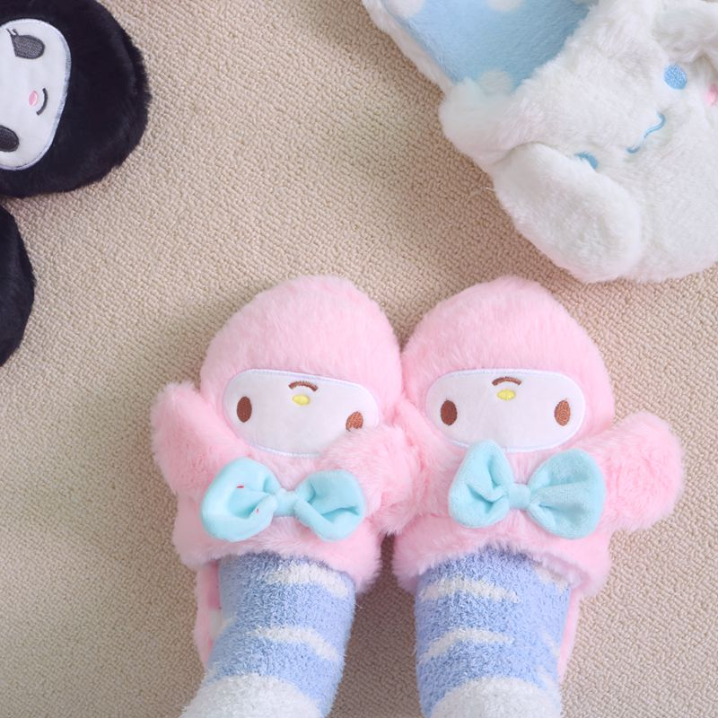 Cartoon Women indoor Cute Slippers Japanese Style Anime Cartoon Warm Woman Slippers Finn Plush Shoes Home Slippers Girl Gifts  - buy with discount