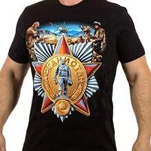 T-shirt homme Original russe AFGHANISTAN mujskaïa Futbolka AFGAN