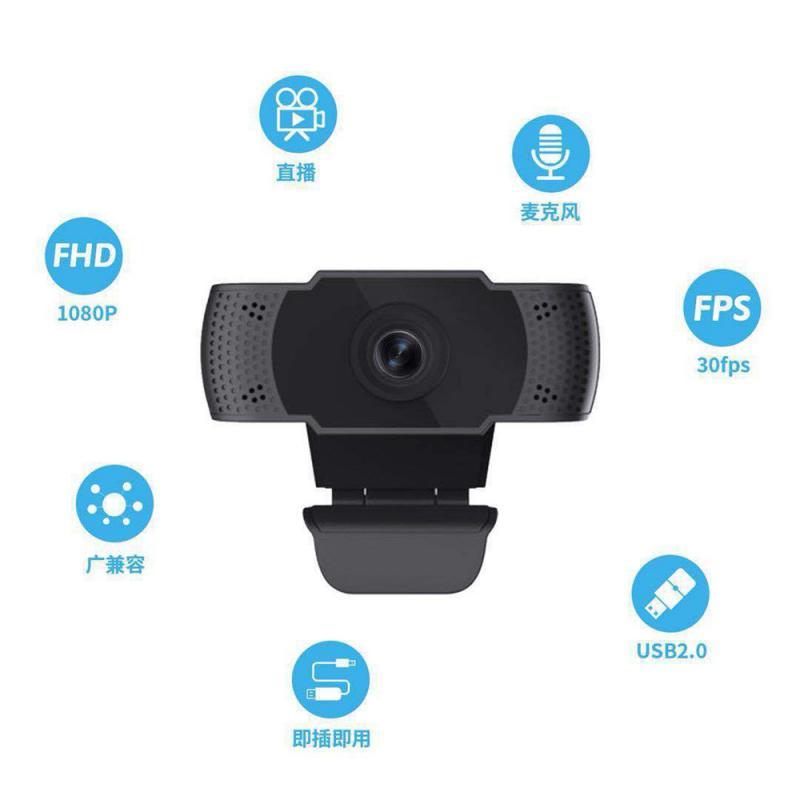 Flexible Webcam USB 1080P HD, cámara Web de la PC con micrófono, cámara USB para ordenador, webcámara, vídeo Full HD, Webcam Web