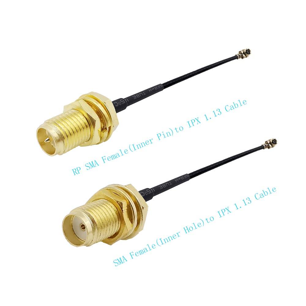 200 قطعة/الوحدة RF ضفيرة RP-SMA الإناث جاك (المكونات دبوس) الحاجز لرابطة المحترفين/u.FL/IPX/IPEX 1.13 ضفيرة كابل ل PCI WiFi الحبل