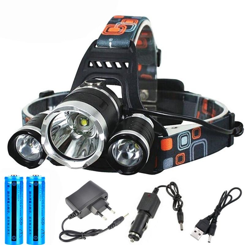 D2 Прямая доставка Перезаряжаемые зум светодиодный налобный фонарь для рыбалки головной светильник фонарь для охоты налобный фонарь кемпин...