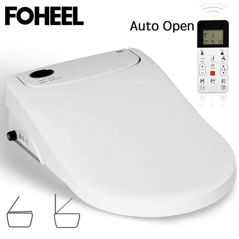 FOHEEL-مقعد مرحاض ذكي مع فتح تلقائي ، غطاء بيديت كهربائي ، مصباح Led ، Wc FWT01