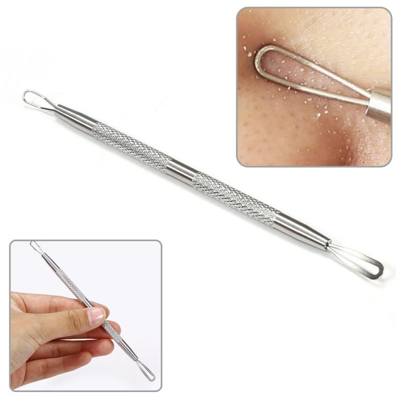 1PC Silver Blackhead Needles Comedone Acne Pimple Blemish Remover Tool Spoon for Face Skin Care Faci