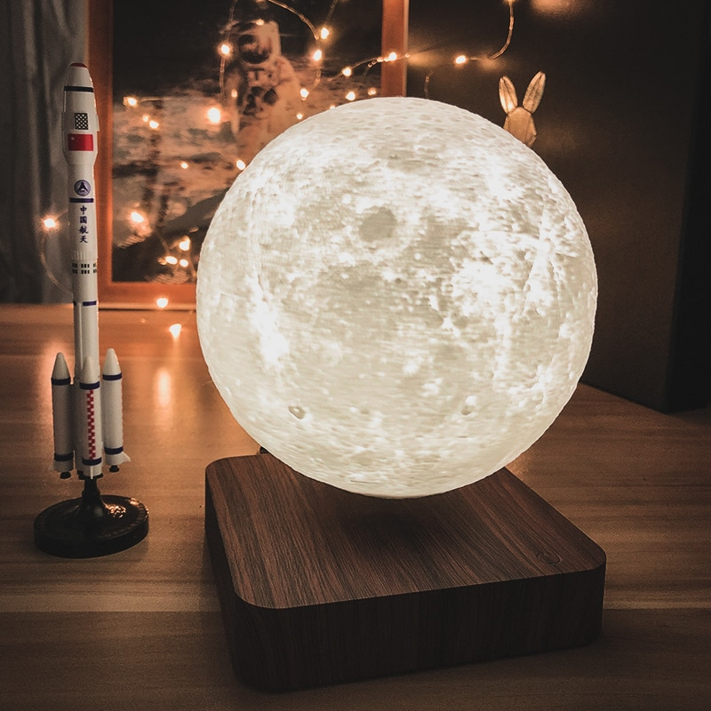 3D Led Night Lights Magnetic Levitation Star Moon Lamp Mars Saturn Touch Nightlight Home Decor for Bedroom Creative with USB