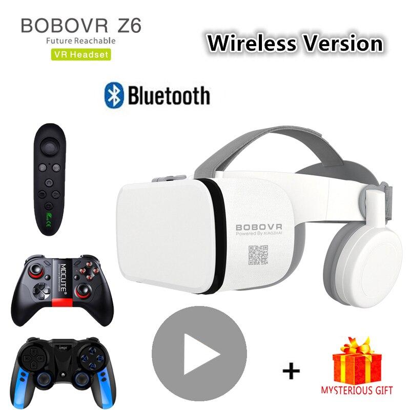 Bobo Bobovr Z6 casco con Bluetooth 3D VR gafas de realidad Virtual auriculares para Smartphone gafas de Smartphone binoculares Viar