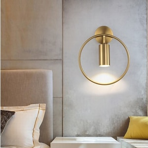 Nordic Simplicity LED wall lamp GU10 indoor bedroom bedside living room wall sconce Light extravagance Creativity light fixture