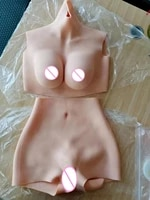 upgrade 6g d cup cotton filler fake artificial boobs breast forms and vagina panties crossdresser shemale drag queen transgender